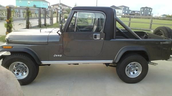 1985 Jeep Scrambler Cj8 V6 Manual For Sale Crystal Beach Tx