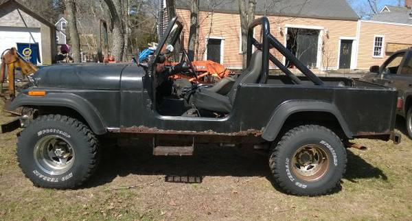 1981 jeep scrambler cj8 258 v6 auto for sale marshfield. Black Bedroom Furniture Sets. Home Design Ideas