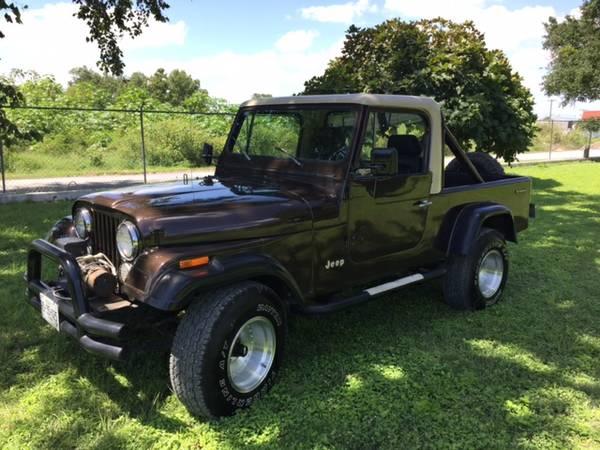 1983 jeep scrambler cj8 v6 auto for sale houston tx craigslist. Black Bedroom Furniture Sets. Home Design Ideas