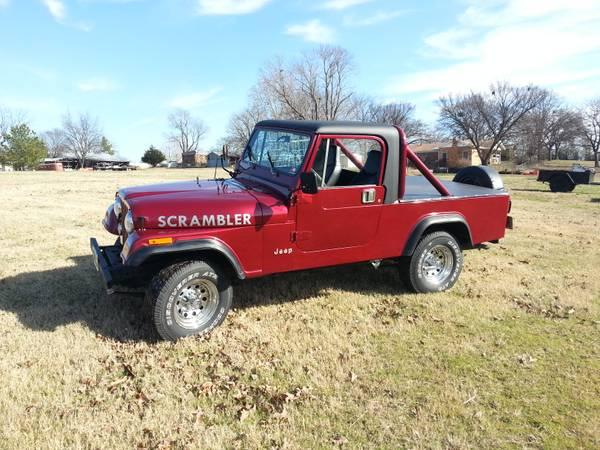 1981 jeep scrambler cj8 manual for sale vian ok craigslist. Black Bedroom Furniture Sets. Home Design Ideas