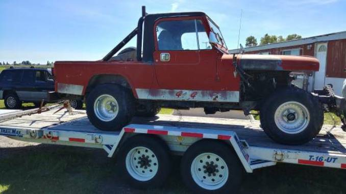 1981 jeep scrambler cj8 project for sale in belgrade montana. Black Bedroom Furniture Sets. Home Design Ideas